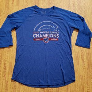 Chicago Cubs Majestic Threads 3/4th Sleeve Shirt